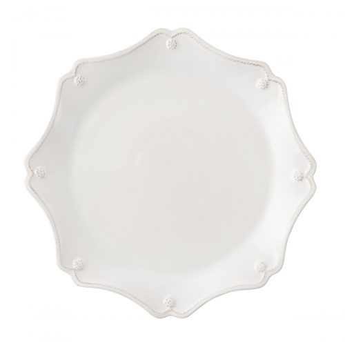 JULISKA Berry & Thread Whitewash Scallop Charger Plate
