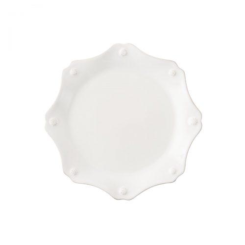 Berry & Thread Whitewash Scallop Dessert/Salad Plate
