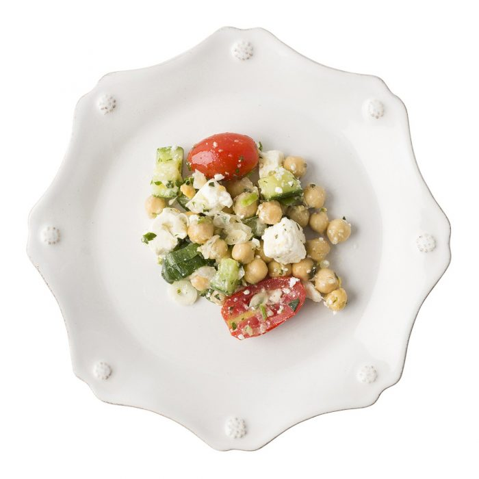 JULISKA Berry & Thread Whitewash Scallop Dessert/Salad Plate