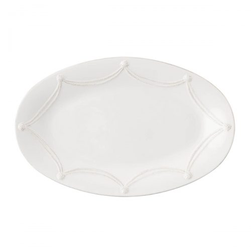 "JULISKA Berry & Thread Whitewash 18"" Oval Platter"