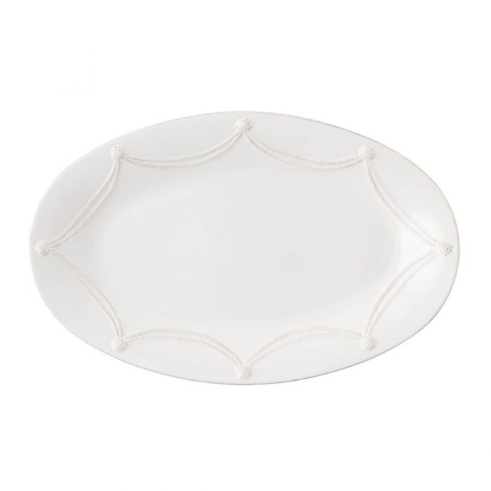 "JULISKA Berry & Thread Whitewash 18"" Oval Platter"