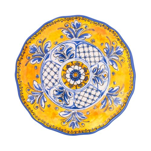 "Le Cadeaux Melamine Benidorm Yellow 9"" Salad Plate - Set of 2"