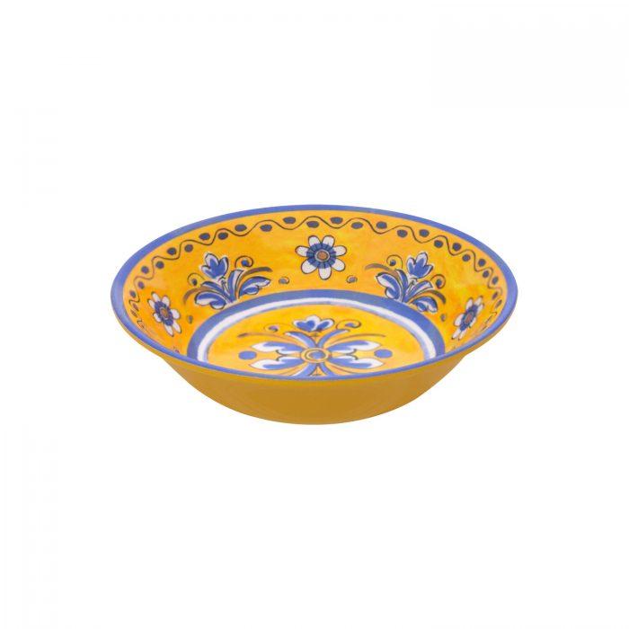 "Le Cadeaux Melamine Benidorm Yellow 7.5"" Cereal/Pasta Bowl - Set of 2"