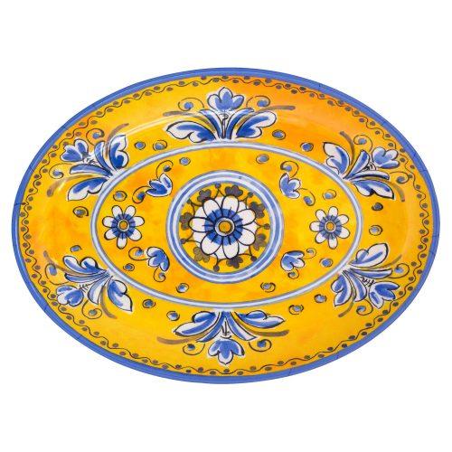 """Le Cadeaux Melamine Benidorm Yellow Platter 16"""""""