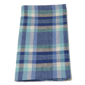 Deborah Rhodes Napkin Plaid Blue