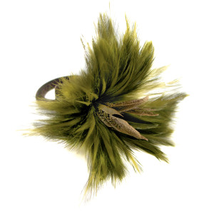 Deborah Rhodes Napkin Ring Feather-Green