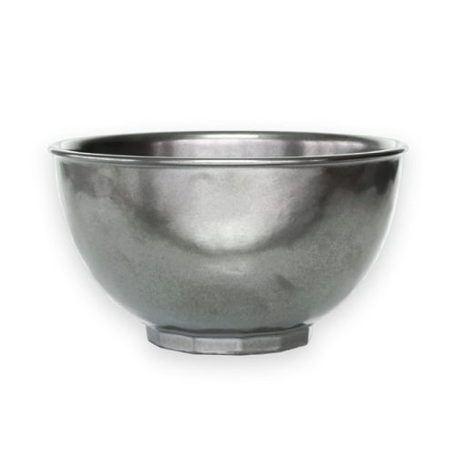JULISKA Pewter Stoneware Cereal/Ice Cream Bowl