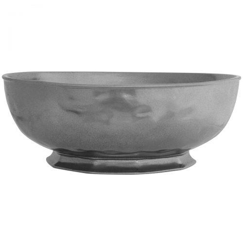 """JULISKA Pewter Stoneware 14"""" Serving Bowl"""