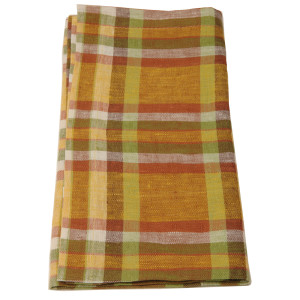Deborah Rhodes Napkin Plaid Orange