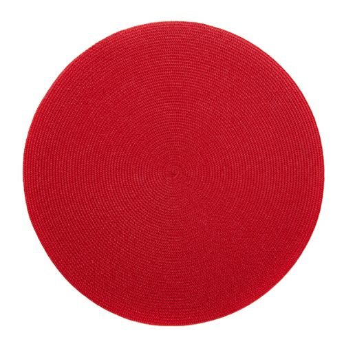 Deborah Rhodes Placemats Round Holiday Red