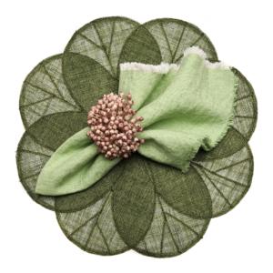 Deborah Rhodes Placemats SINAMAY FLOWER Green
