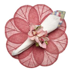 Deborah Rhodes Placemats SINAMAY FLOWER Pink