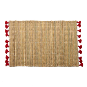 Deborah Rhodes Placemats PALM TASSEL Red