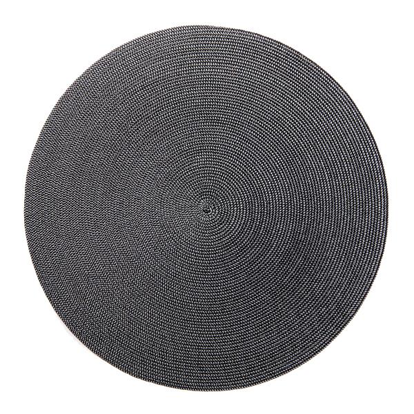 Deborah Rhodes Placemats Round Black Grey