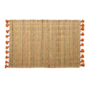 Deborah Rhodes Placemats PALM TASSEL Orange