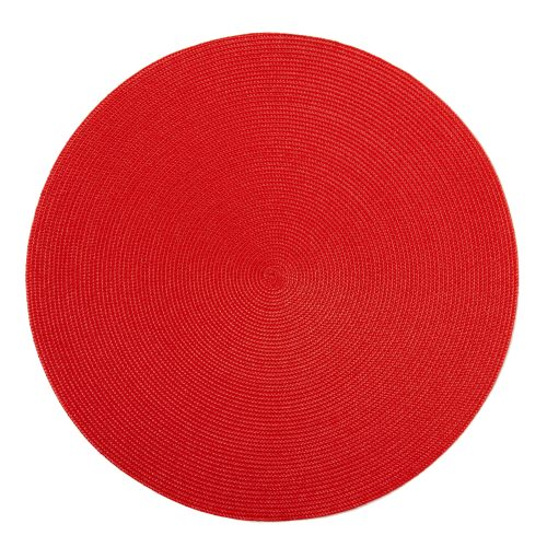 Round Red Placemats - Set of 2