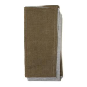 Deborah Rhodes Napkin 2 Tone - Brown Grey