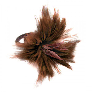 Deborah Rhodes Napkin Ring Feather-Brown