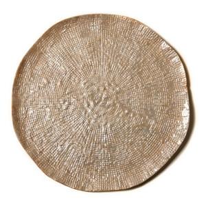 Deborah Rhodes Placemats Pebbled Capiz Taupe
