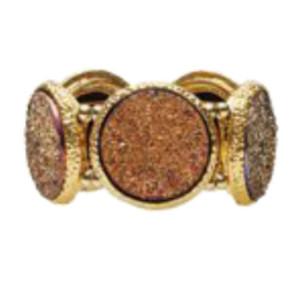 Kim Seybert Napkin Ring Harlequin-Gold