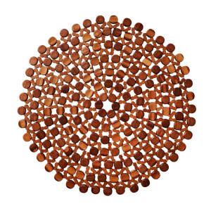 Kim Seybert Round Bamboo Placemat Brown