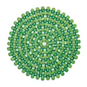 Kim Seybert Round Bamboo Placemat Green