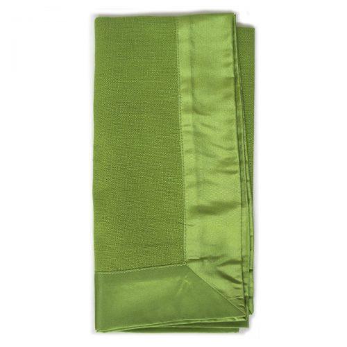 Green Satin Trim Napkin