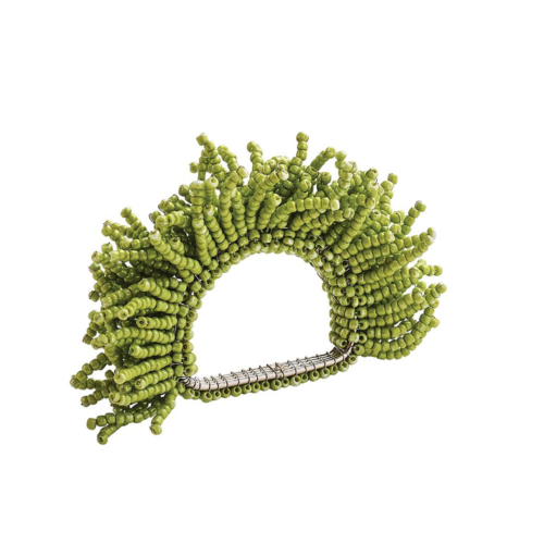 Kim Seybert CARNIVAL NAPKIN RING IN GREEN