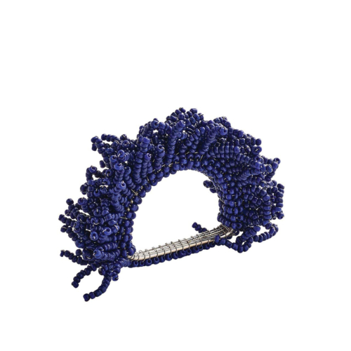 Kim Seybert CARNIVAL NAPKIN RING IN NAVY