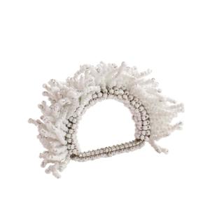 Kim Seybert CARNIVAL NAPKIN RING IN WHITE