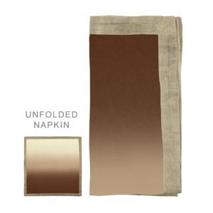 Kim Seybert Napkin Dip Dye Natural/Brown/Gold