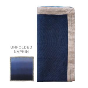 Kim Seybert Napkin Dip Dye Navy/Blue