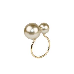 Kim Seybert Napkin Ring Pearl Champagne/Gold