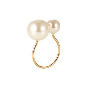 Kim Seybert Napkin Ring Pearl Ivory/Gold