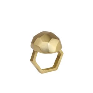 Kim Seybert Napkin Ring Amulet Gold
