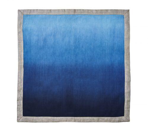 Kim Seybert Napkin Dip Dye NAVY & BLUE