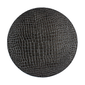 Bodrum Placemat Round Gator Charcoal