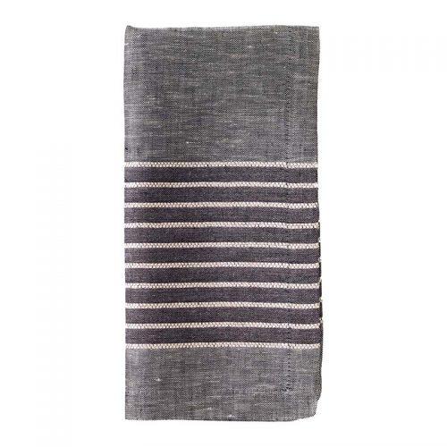 Bodrum Napkin Tuxedo- Charcoal