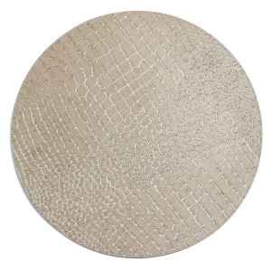 Bodrum Placemat Round Gator Pearl