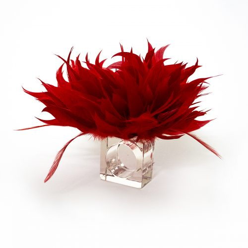 Julian Mejia Napkin Ring-Fabulous Feathers in Red