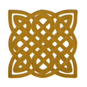 Julian Mejia Placemat Chinese Fretwork Gold Ornate