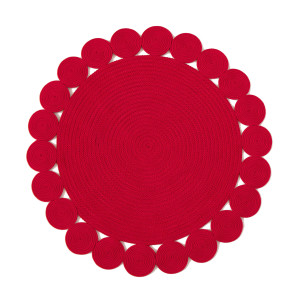 Julian Mejia Placemat Woven Circles in Red