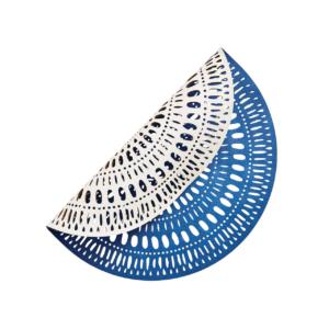 Kim Seybert FIESTA BLUE & WHITE PLACEMAT