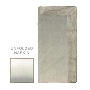 Kim Seybert Napkin Dip Dye Natural/Gray/Silver
