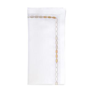 Kim Seybert Napkin Corded Ombre White/Silver/Gold