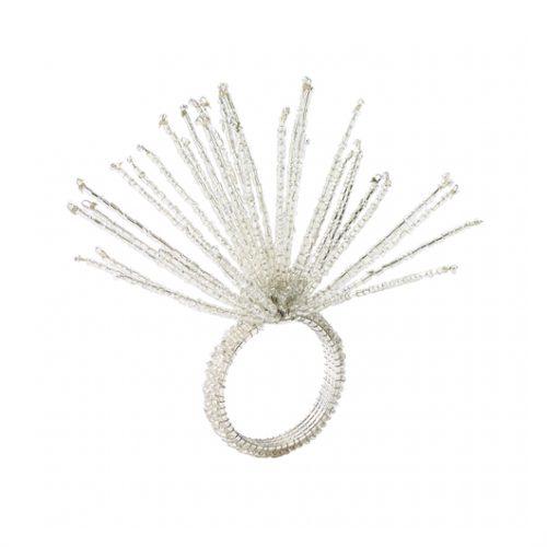 Kim Seybert Napkin Ring Spider Beaded Crystal/Silver