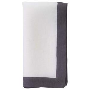 Bodrum Napkin Orta White Charcoal