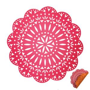 Kim Seybert Fête Reversible Placemat Pink/Orange