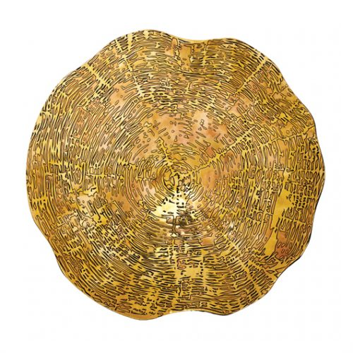 Kim Seybert Placemat Timber Gold