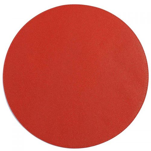 Bodrum Placemat Round Skate Coral